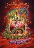 Flaming Dragon Pudding - by Briar - yuletide midwinter greetings card